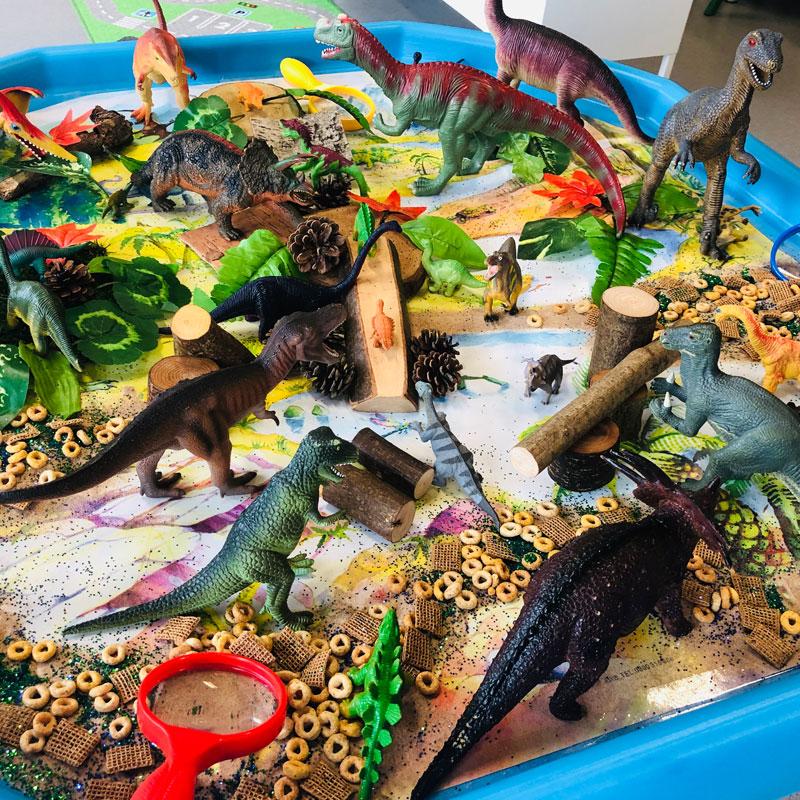 Dinosaur activty table
