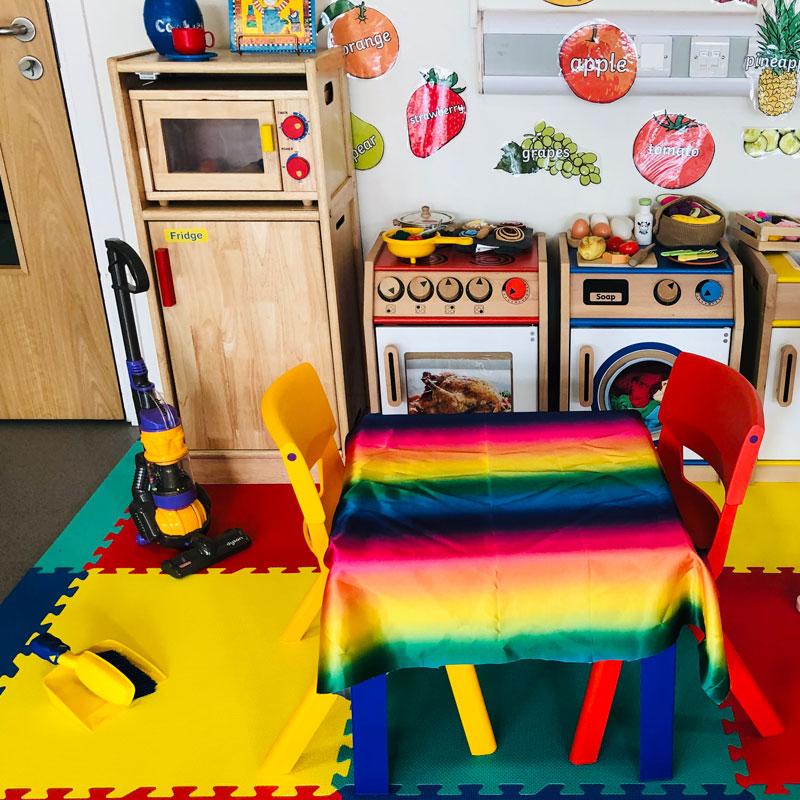 Kitchen play area